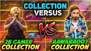 2B Gamer Vs AAWARA OP Collection Versus 😎 Who is Richest Freefire Player || Free fire