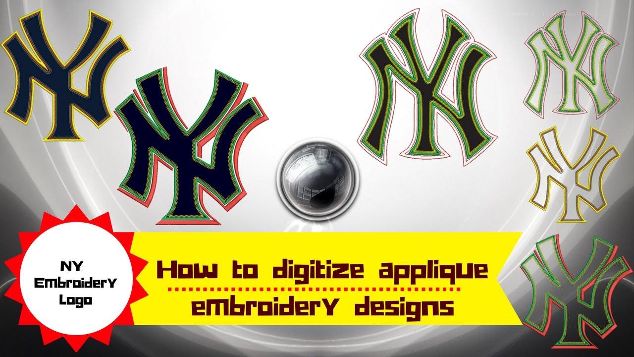 How to digitize applique embroidery designs newyork ny logo wilcom