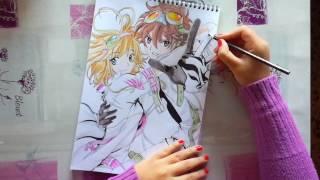 Speed Drawing - Sakura & Shaoran (Tsubasa Chronicles)