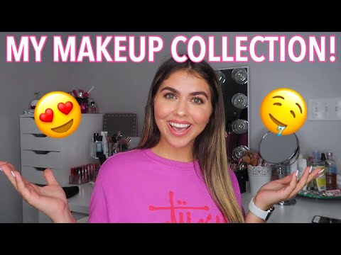 MY HUGE MAKEUP COLLECTION 2019! (In depth) thumbnail