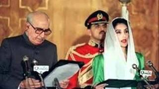 Mohatarma Benazir Bhutto Shaheed - Oath Taking Ceremony (1988).wmv