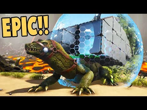 EPIC GIGALANIA WAR LIZARD! Beautiful UPDATES! - Ark Survival Evolved Gameplay