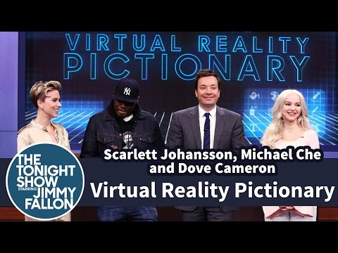 Thumbnail: Virtual Reality Pictionary with Scarlett Johansson, Michael Che and Dove Cameron