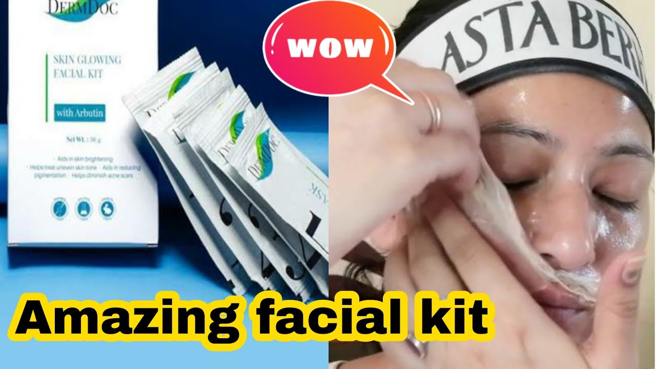 How to do facial step by step/Derm doc anti aging facial kit review/summer facial