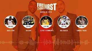 First Things First audio podcast (3.18.19)Cris Carter, Nick Wright, Jenna Wolfe | FIRST THINGS FIRST