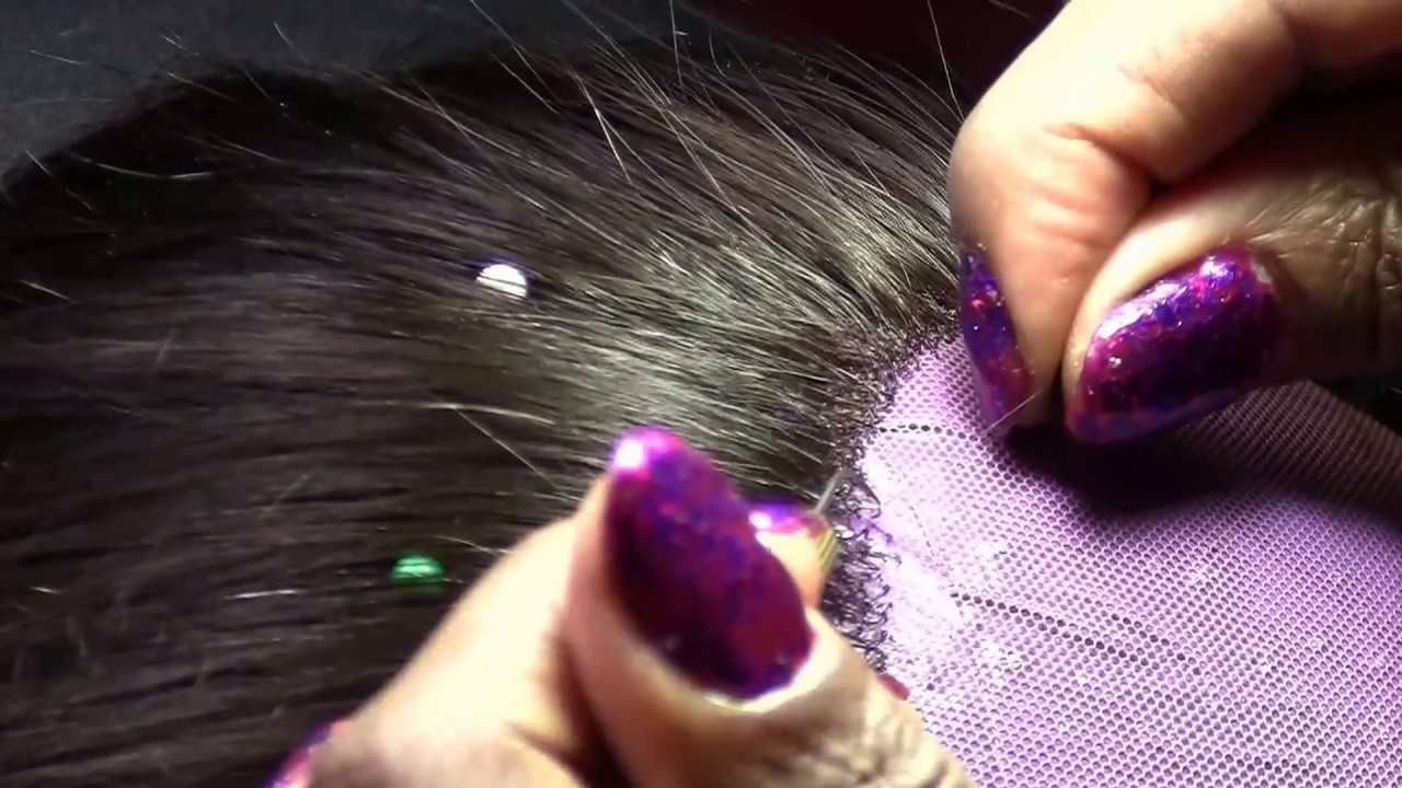 Learn how to VENTILATE (Knot) HAIRS on Lace Fronts, 360's ...