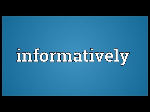 Header of informatively