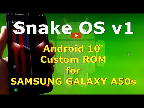 Snake OS v1.0 for Samsung Galaxy A50s SM-A507FN Android 10 Custom ROM