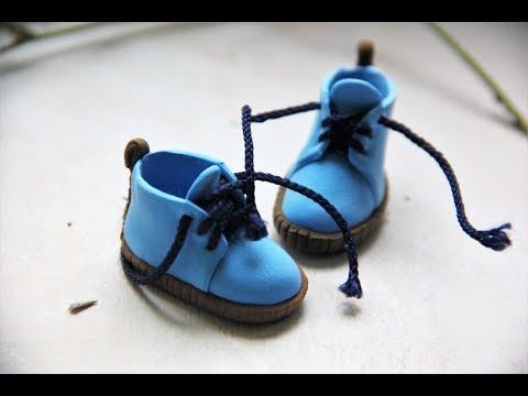 Обувь для кукол из полимерной глины своими руками