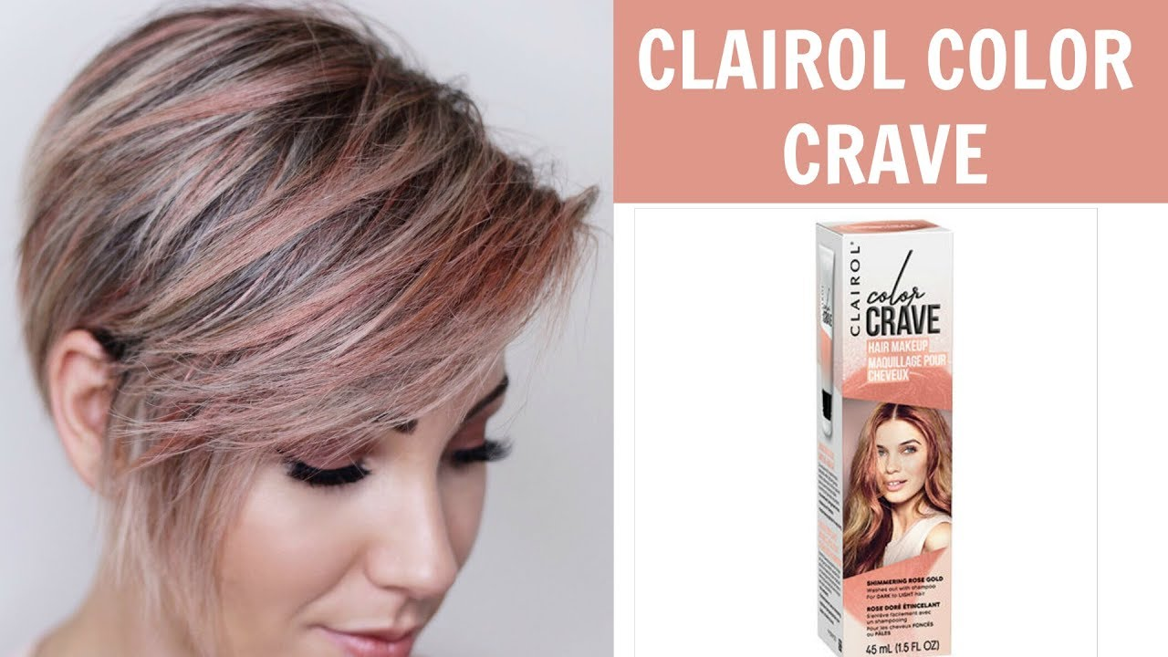 Clairol Color Crave Review Rose Gold Youtube