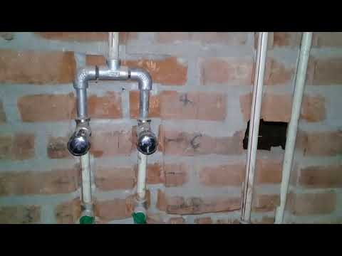 Bathroom fitting plumber work
