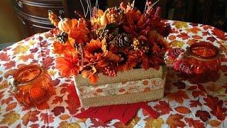 Fall Floral Box DIY (Dollar Tree/ Dollar Store)