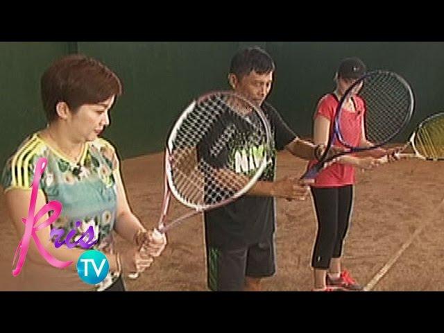Kris TV: Kris learns to play Tennis
