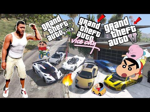 Frenklin Shinchan Collecting Rare  Supercars From GTA 5,GTA4 AND GTA VICE CITY    THUGBOI MAX