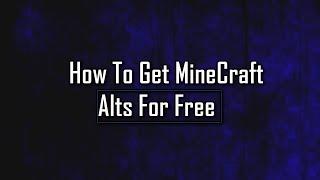 HOW TO GET FREE Minecraft PREMIUM Accounts! MCLeaks Alt