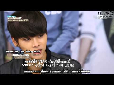 [TH SUB] VIXX Thank You For Being Born Ballad ver. - The Music InterVIEW