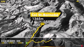 Haute Route Alps 2014 - Stage 7 - 3D map