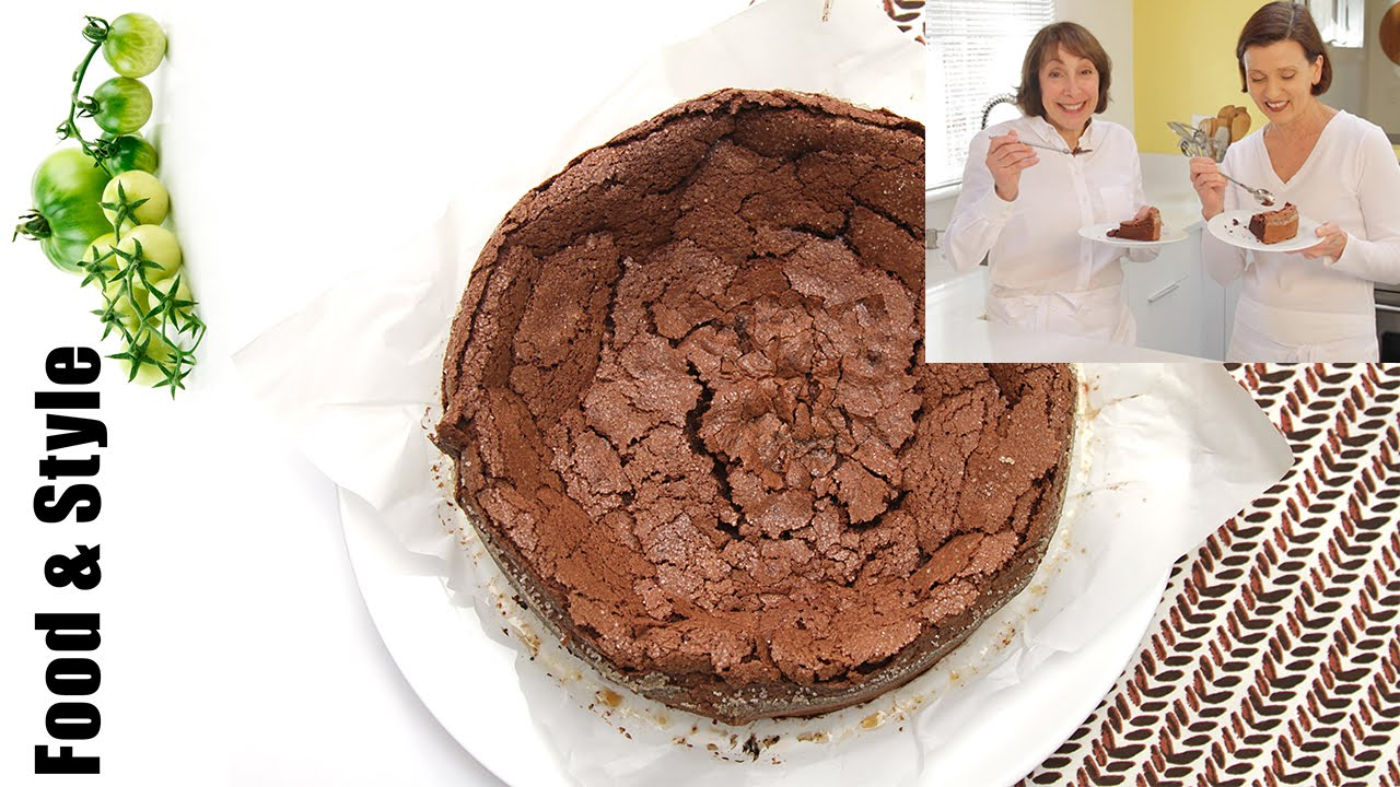 Cooking with Didi Conn: Flourless Chocolate-Bourbon Cake - YouTube