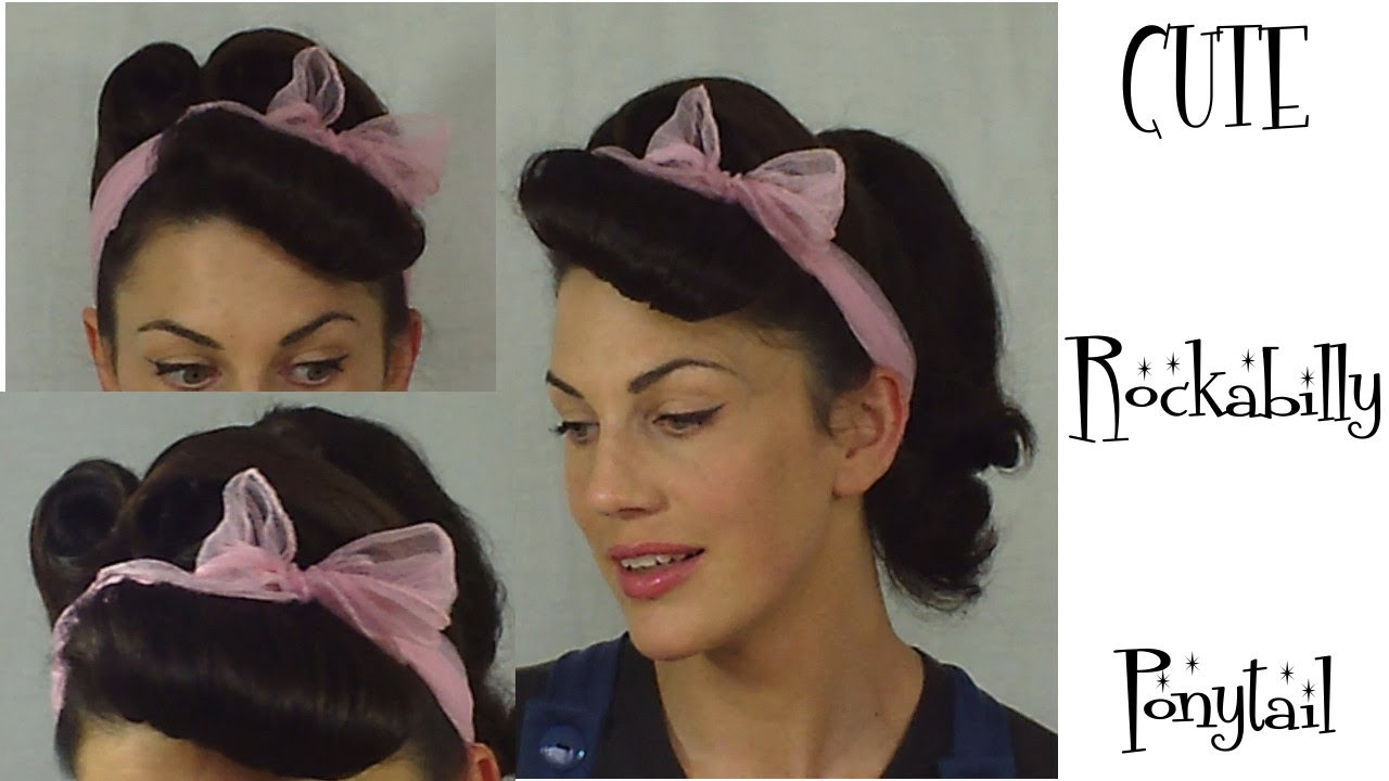 rockabilly ponytail retro