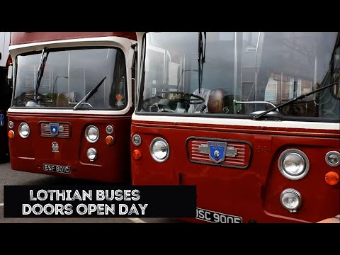 Lothian Buses Doors Open Day 2016 Live Event - Lothian Buses Edinburgh - Vintage Buses Running Day