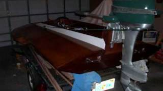 Outboard Hydroplane Racing Boat Built From Plans. Home Built