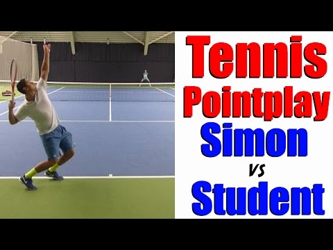 Tennis Point Play - Simon vs 16 Year Old Student - Part 3