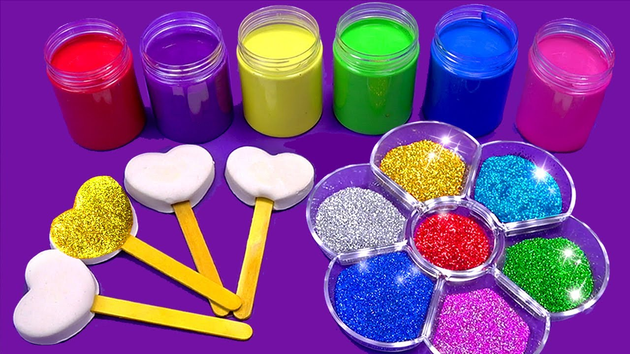 Making Sparkle Ice Cream Out Of Play Doh Learn Colors
