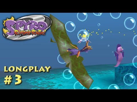 Spyro 2: Ripto's Rage! Longplay - Sunny Beach / Aquaria Towers / Ocean Speedway (Part 3 of 10)