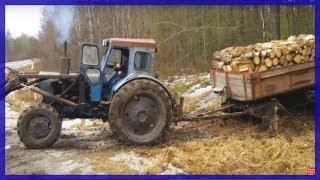 Беспощадный Подъём Гружёным Трактор т40