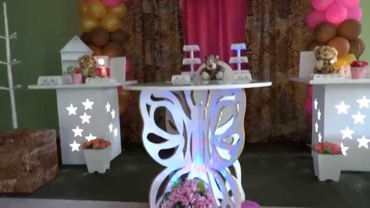 """Artesanato Ideias De Natal ~ Decoraç u00e3o com o tema""""Oncinha"""" para festa de aniversário"""