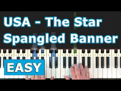 USA National Anthem - The Star Spangled Banner - EASY Piano Tutorial - Sheet Music