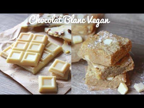 CHOCOLAT BLANC VEGAN   Recette Blondies