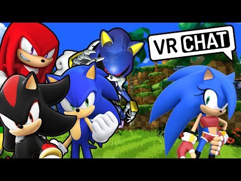 Meeting SONICA In VRChat... (ft. Shadow, Sonic, & Metal Sonic)