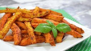Pieczone frytki z selera i batatów - Jak zrobić - Smakowite Dania