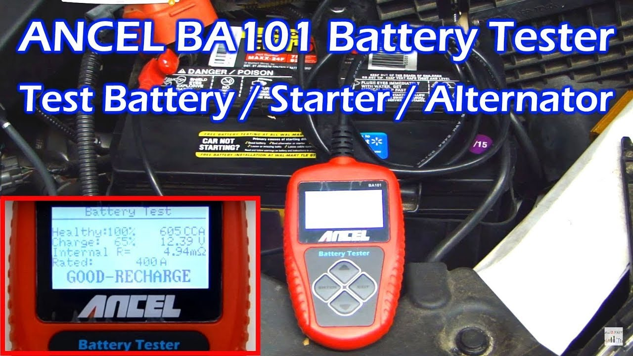 Ancel Ba101 Professional Battery    Starter    Alternator