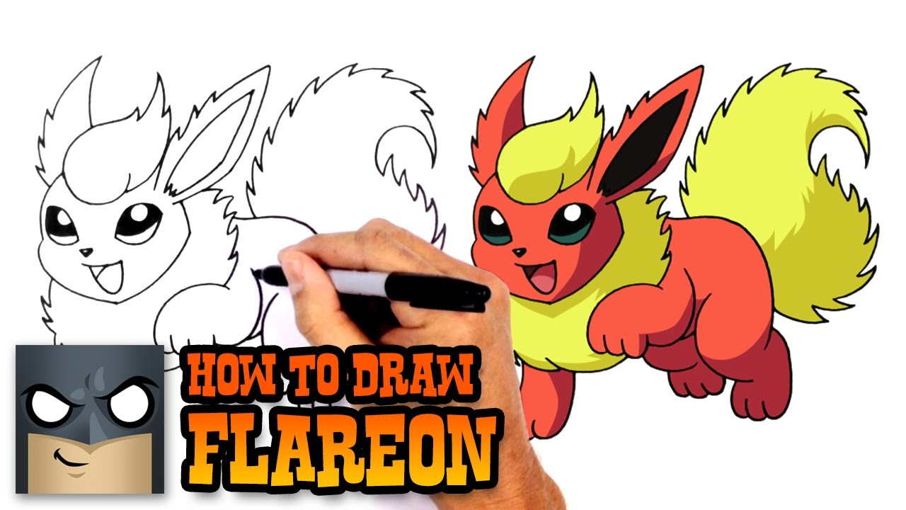 How to draw flareon pokemon youtube