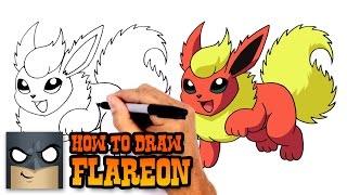 How to Draw Flareon | Pokemon