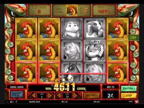 Big Slot win - Chinese New Year free spins bonus. Huge win