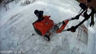 снегоуборщик электрический Al-ko 46 Е, обзор, Донецк выпал снег  Snow blower electric
