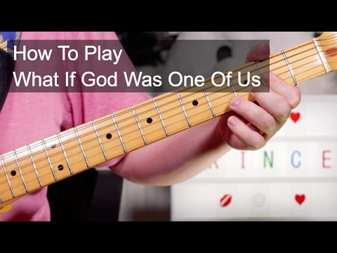 'What If God Was One Of Us' Prince Guitar Lesson