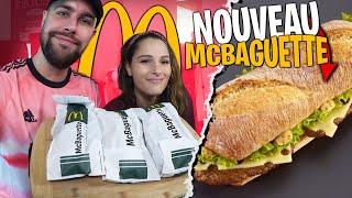 On goûte pour la première fois le McBaguette avec Pidi !