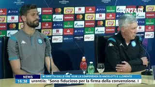 Champions: conferenza Ancelotti-Llorente