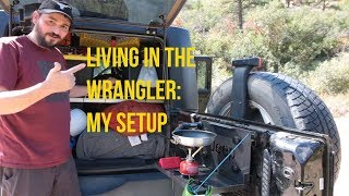 Living in my Jeep Wrangler: setup review