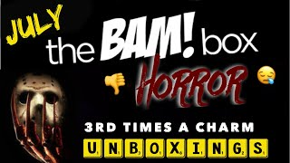 """July 2018 """" Horror Bam Box"""" Unboxing Video"""