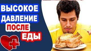 Почему после еды поднимается давление? Причины поднятия давления после приема пищи