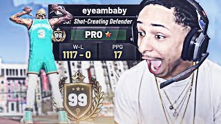 Today I Played Against a 99 Overall With AN UNDEFEATED RECORD (NBA 2K19)