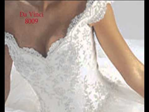 Da vinci 8009 youtube for Da vinci red wedding dress