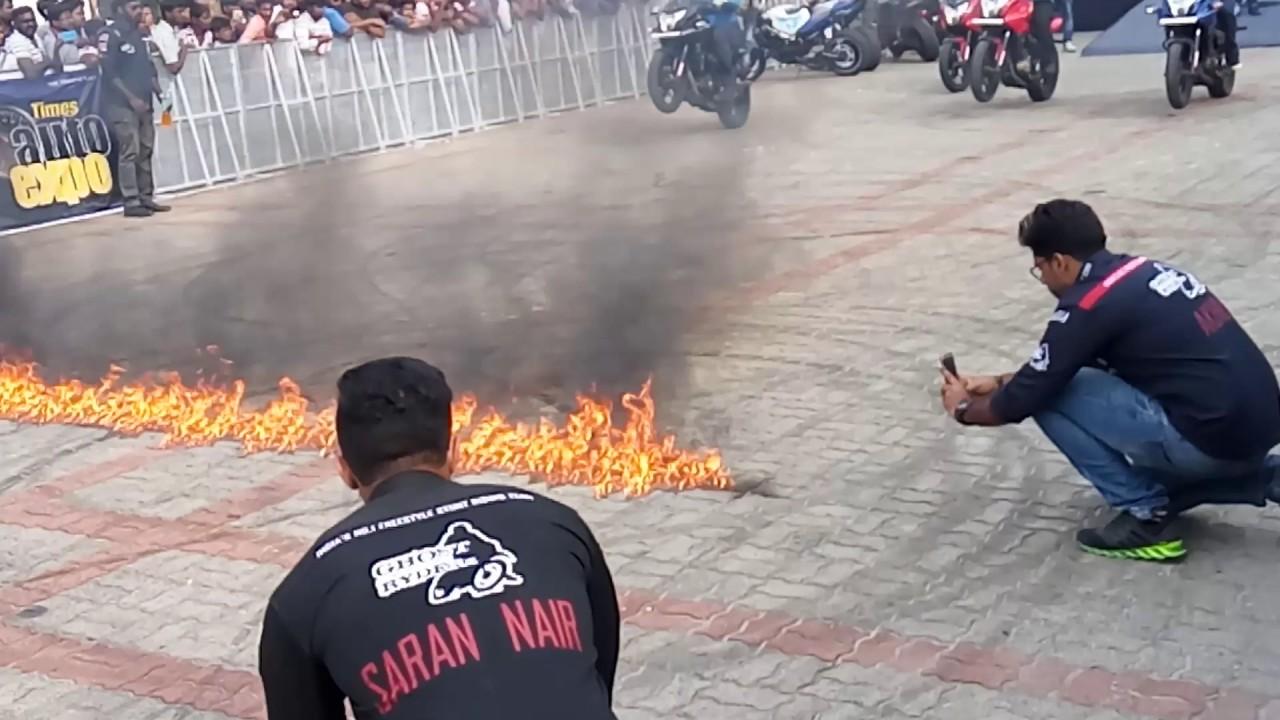 Ghost Riders Bike Stunts Chennai Youtube