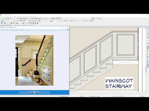 Designing a Wainscot for a Stairway