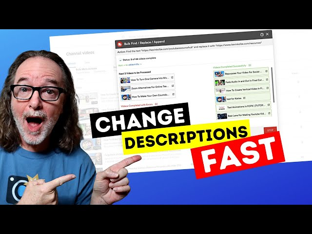 Change Your YouTube Video Descriptions FAST [TubeBuddy Tutorial]